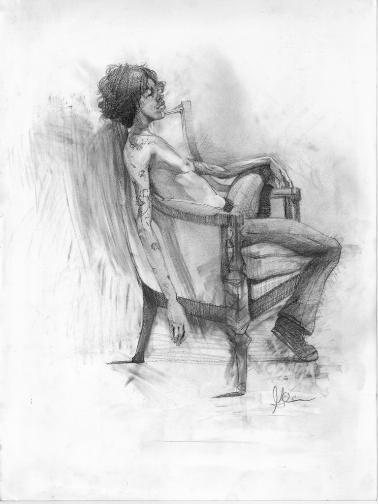 Graphite on Chair