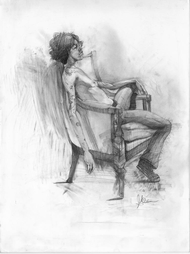 Graphite on Chair