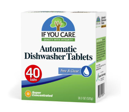 If You Care Dishwasher Tablets: If You Care works to provide consumers with sustainable and environmentally friendly kitchen and household products. - If You Care Automatic Dishwasher Tablets are super concentrated. They contain a potent blend of mineral and plant-derived cleaning ingredients including powerful enzymes to get your dishes sparkling clean.