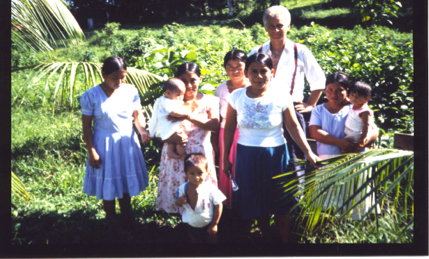 Craig with Maya women