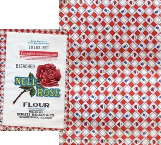 Nell Rose flour company bags