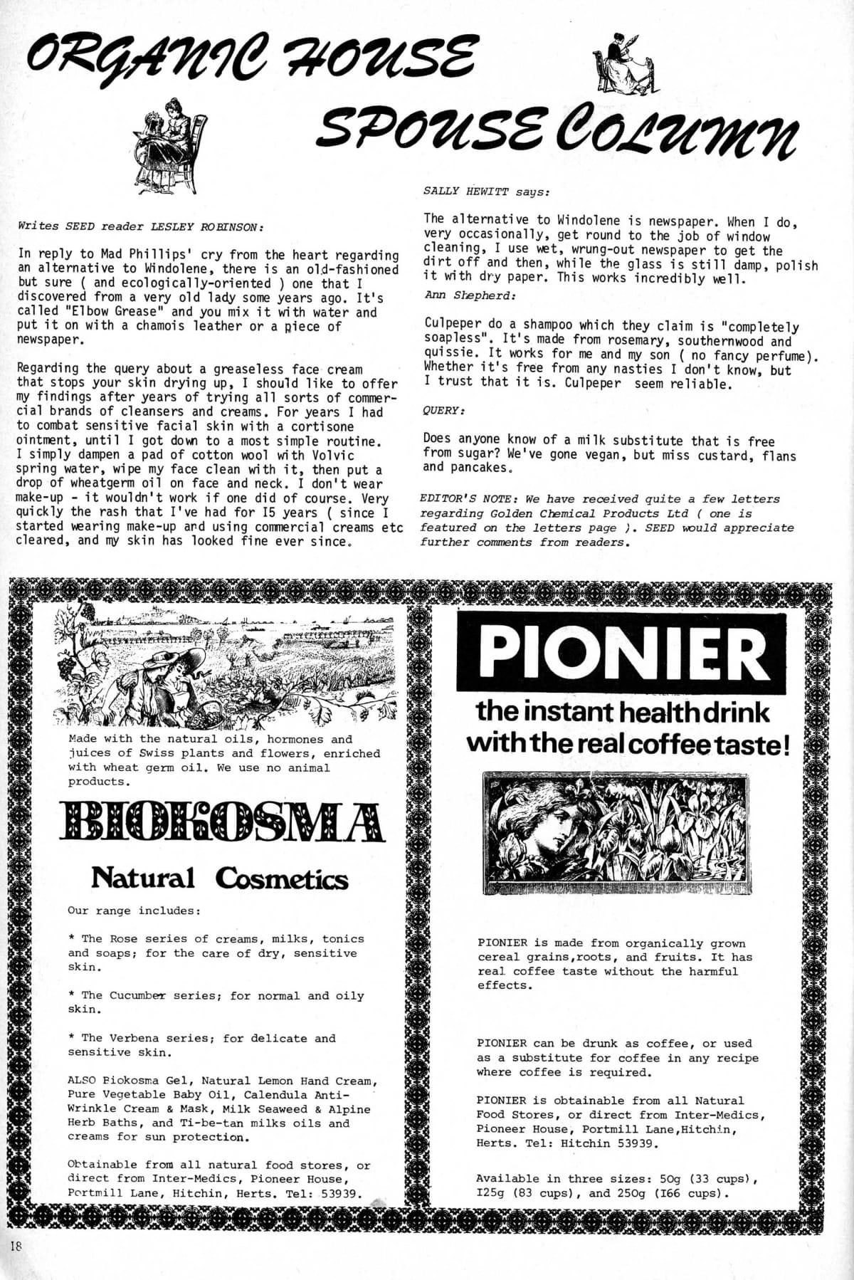 Seed Vol 3 No 8 Aug 1974 p 18 — Craig Sams