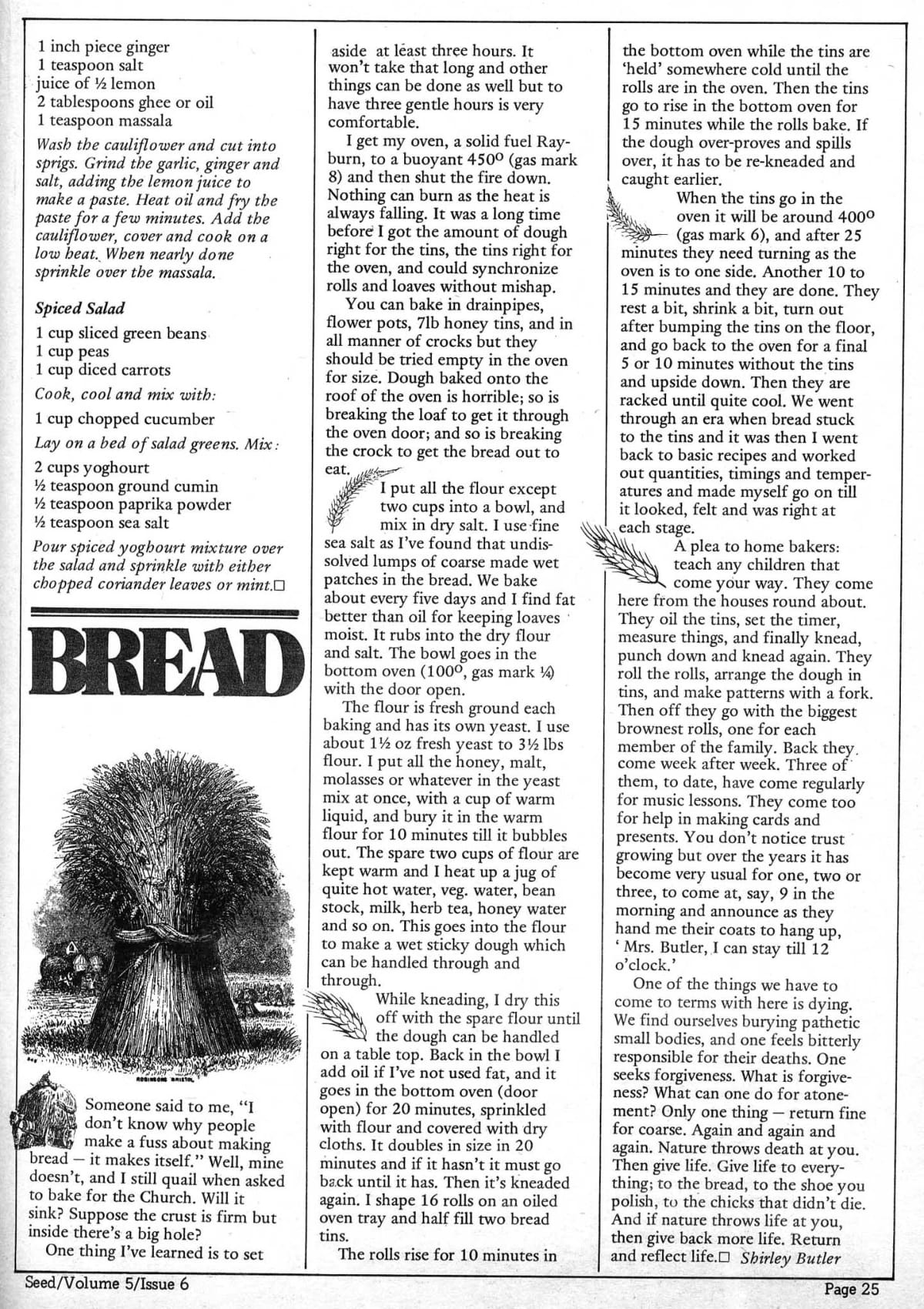 Seed Vol 5 no 6 June 1976 p 25 — Craig Sams