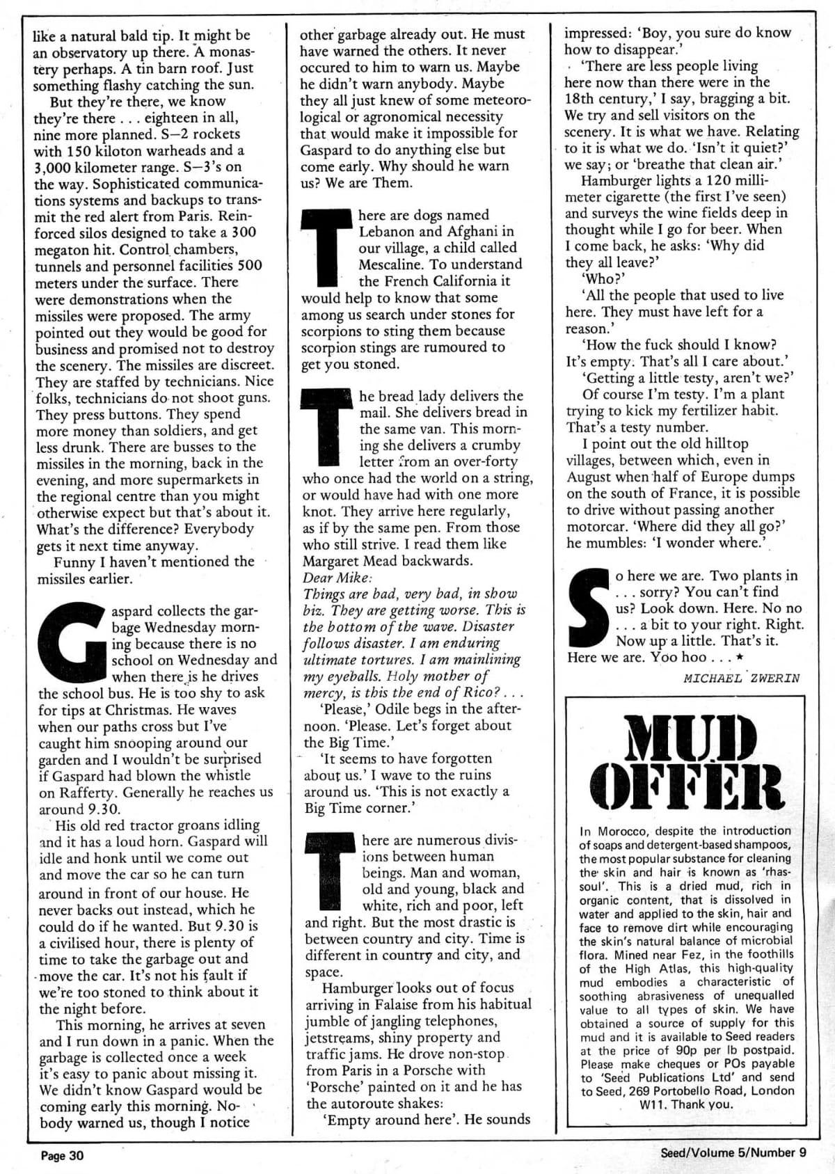 Seed Vol 5 No 9 September 1976 p 32 — Craig Sams