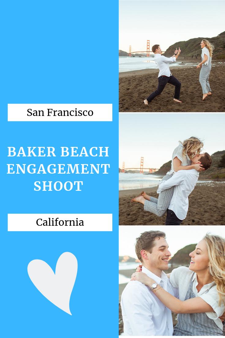 baker beach engagement
