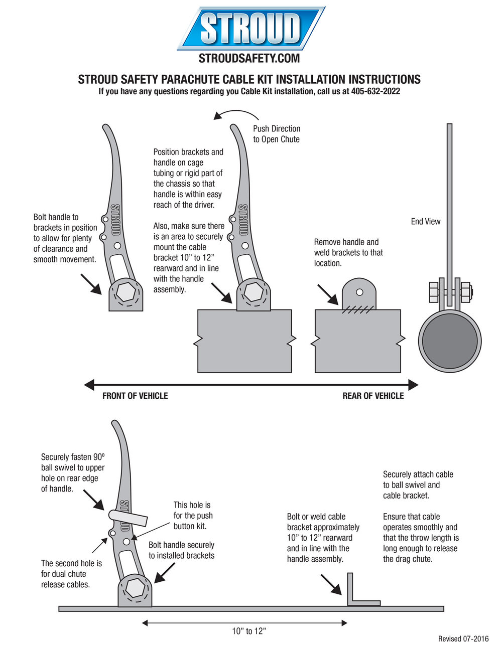 stroud safety parachute cable kit installation instructions use this chart  for the installation and operation of