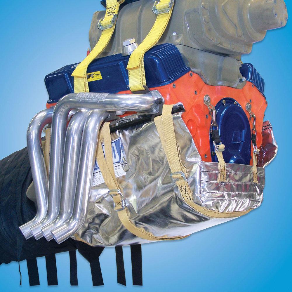 Engine Diaper, Complete   Engine diaper comes in the SFI 7.1, Kevlar style.  Engine Diaper - Complete 7.1: #1020
