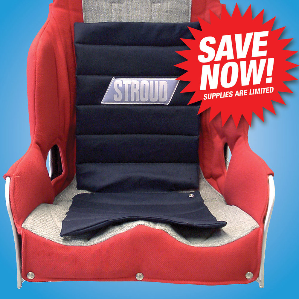 SEAT PAD KITS  The Stroud Seat Pad comes complete with the hardware to install it to the seat and make it removable. The cover is flame retardant Banox and the cushion is flame retardant closed cell foam. Available only in black.  Seat Pad, Snap-In: #535-1 Seat Pad, Kit: #535