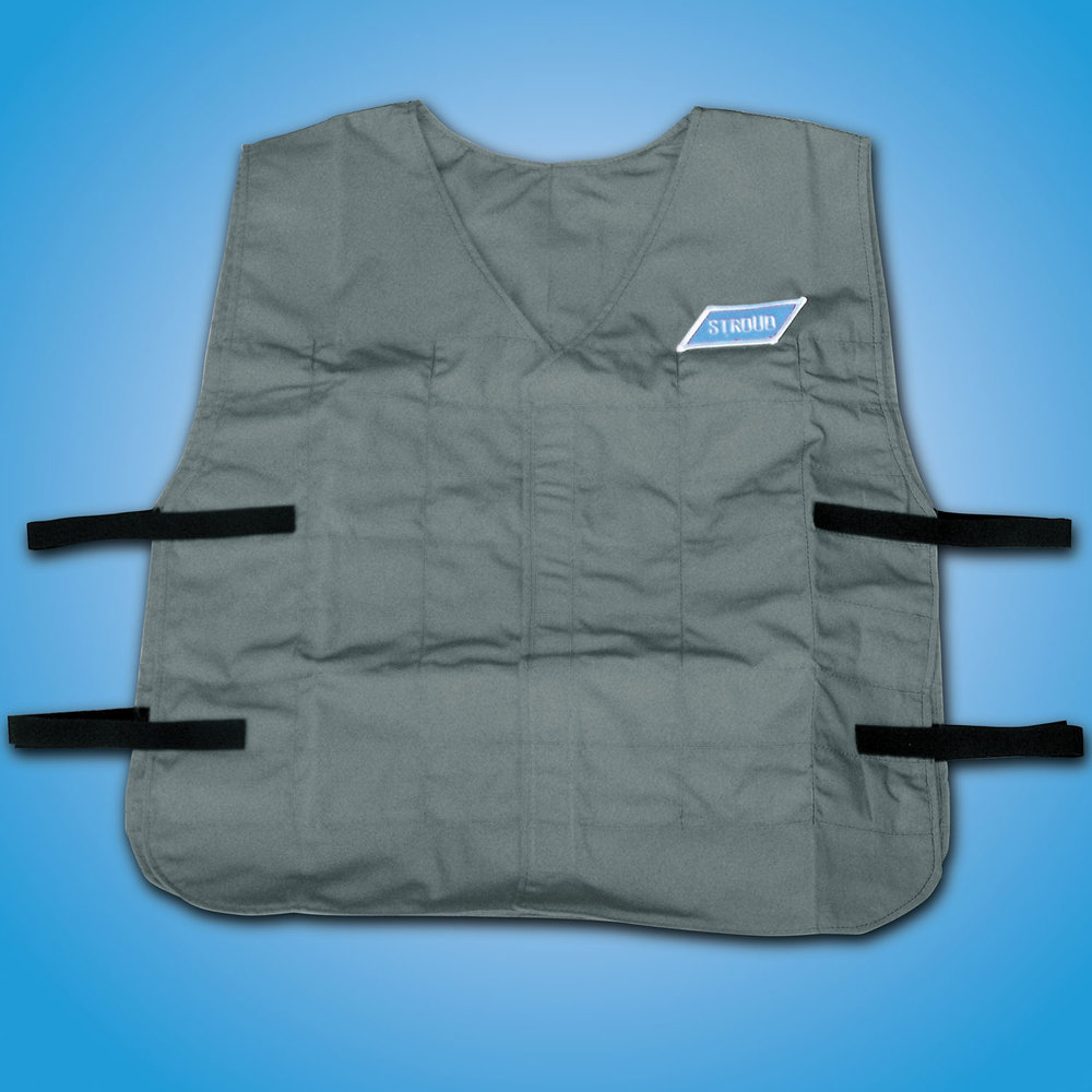 COOL VEST   For those hot summer days when you feel like melting, the Stroud cool vest cures the heat. Reusable all day and does not interfere with your driving. Also keeps you warm in the winter!  Cool Vest: #810