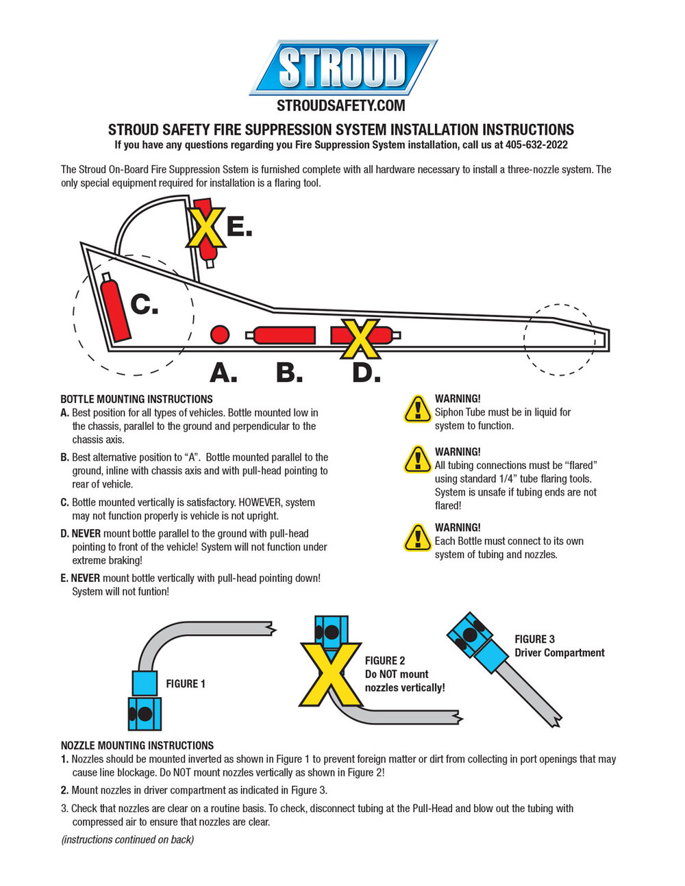 Download the Stroud Safety Fire Suppression System Installation Instruction sheet (PDF)