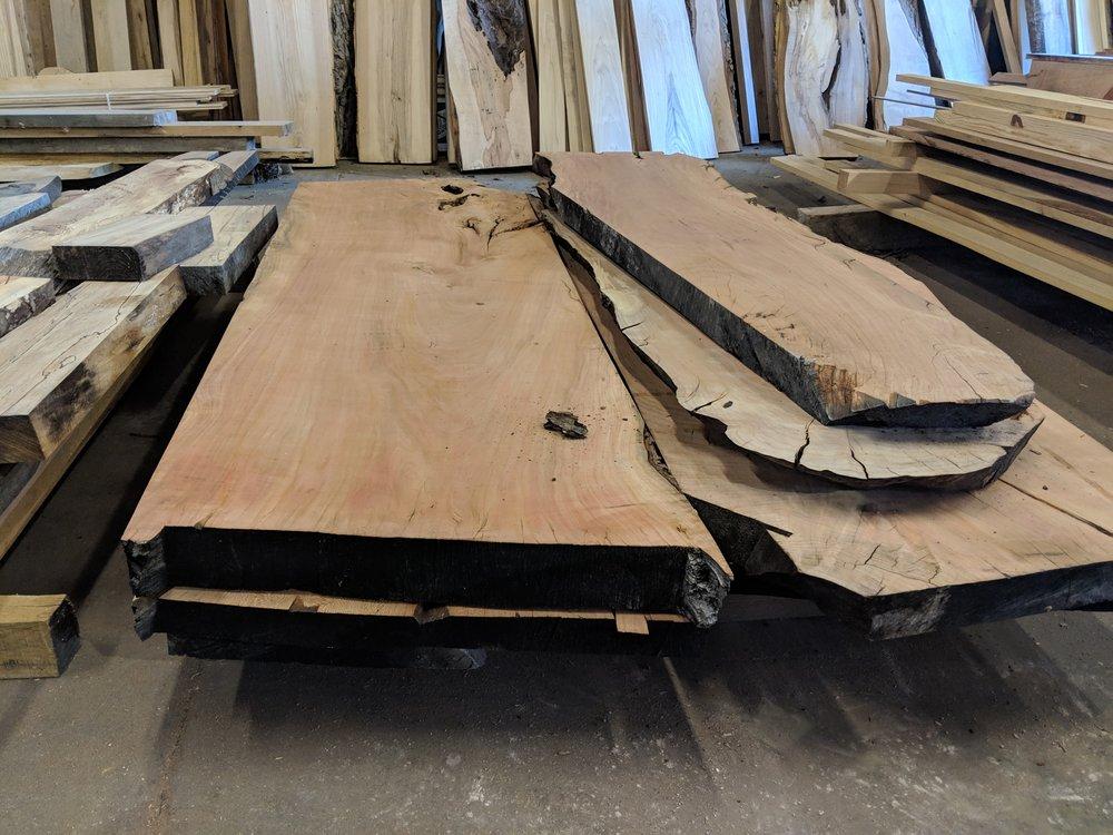 Extra Wide Hardwood Slabs