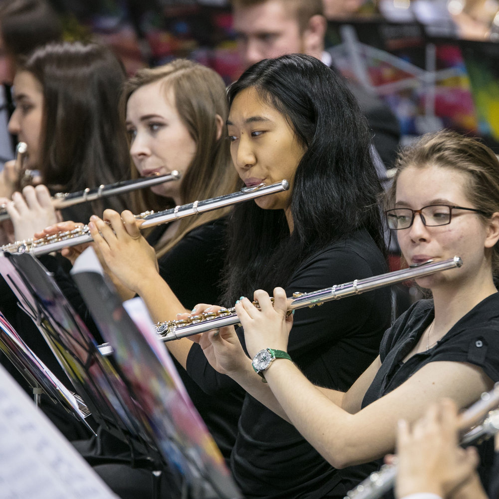 Flautists in the All-State Band; click through to Band Division Page