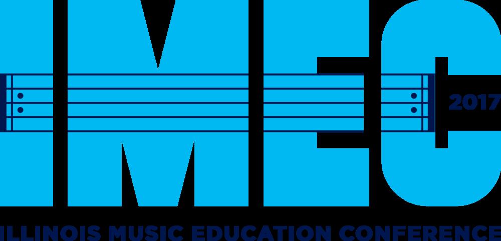 Blue 2017 Illinois Music Education logo