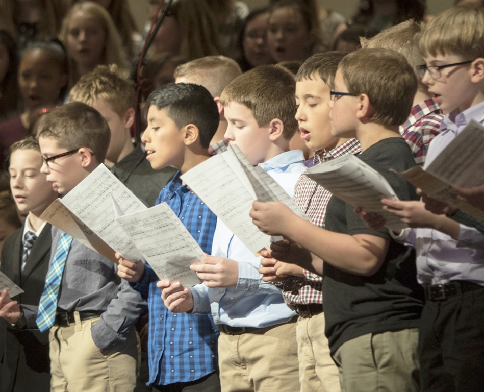 Junior High students in performance at All-State
