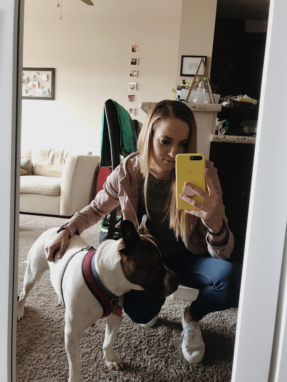 Kylee and her rescue pup, Skeeter