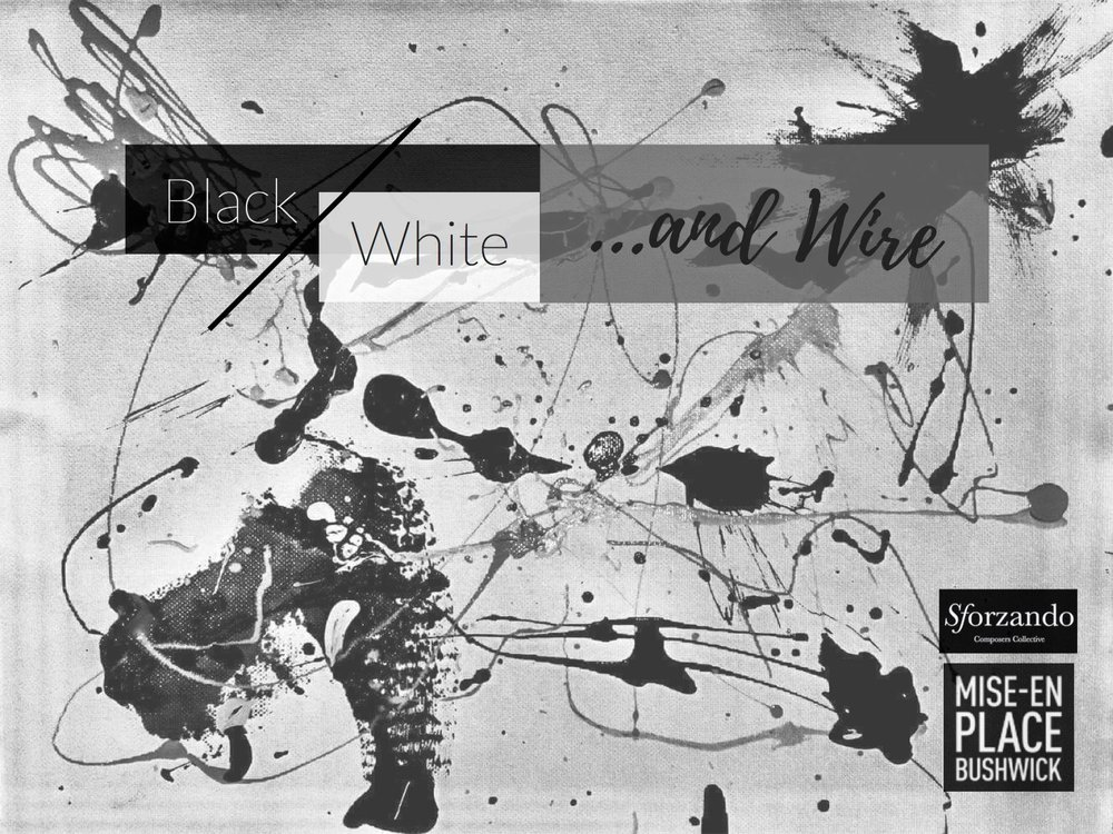 Black/White and Wire  (2017)  Video projection, in collaboration with Sforzando, presented at Mise_en Place