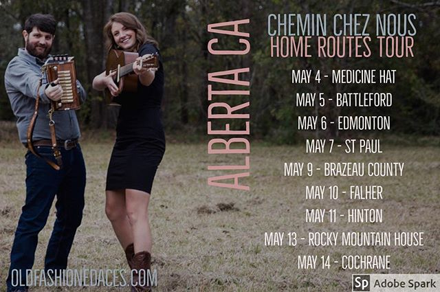 Heading back to Canada for a @homeroutes tour of Alberta! #chemincheznous #homerouteshouseconcerts #canada #oldfashionedaces #cajun #houseconcert #road trip