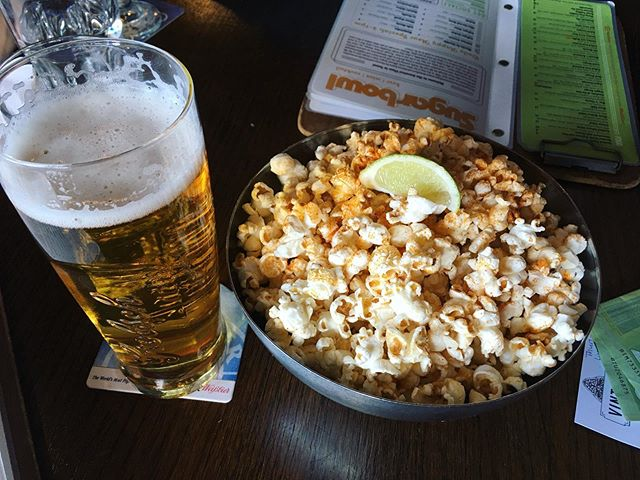 Had a great visit to St Paul last night! Enjoying our day off in Edmonton. Smoked paprika popcorn happy hour! Next stop, Brazeau County! #chemincheznous #homeroutes