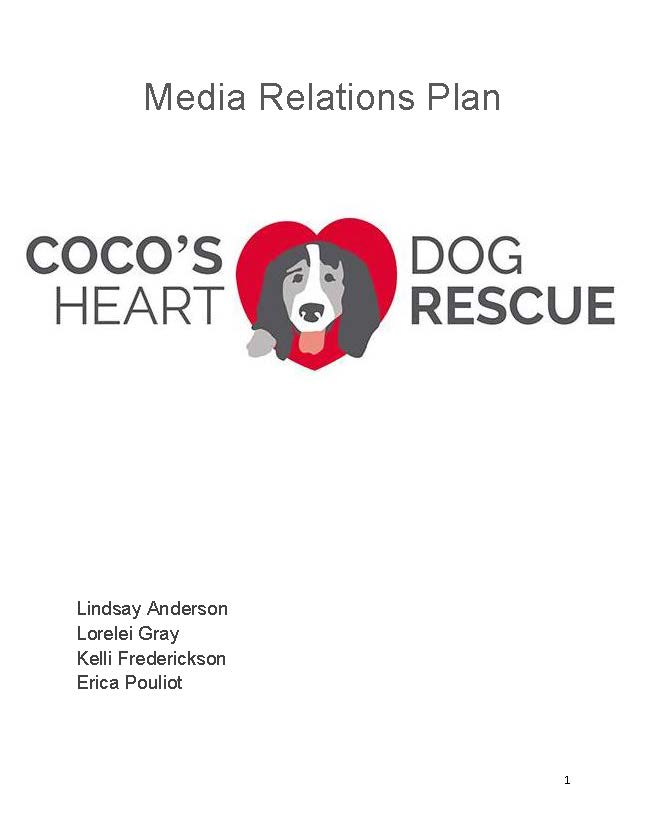 Media Relations Plan - Coco's Heart Dog Rescue