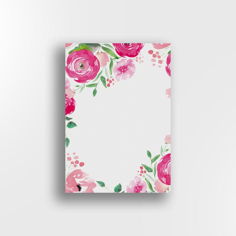 Pink Petals / White Background