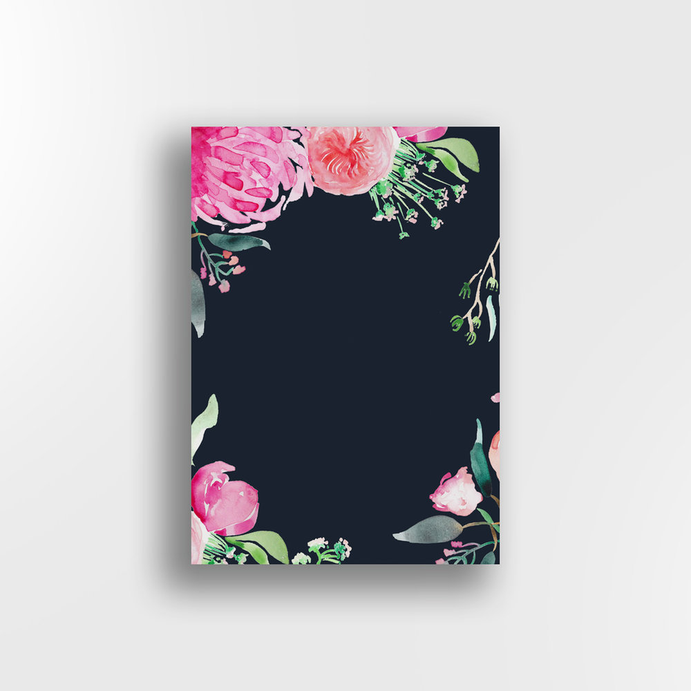 Secret Garden / Navy Background