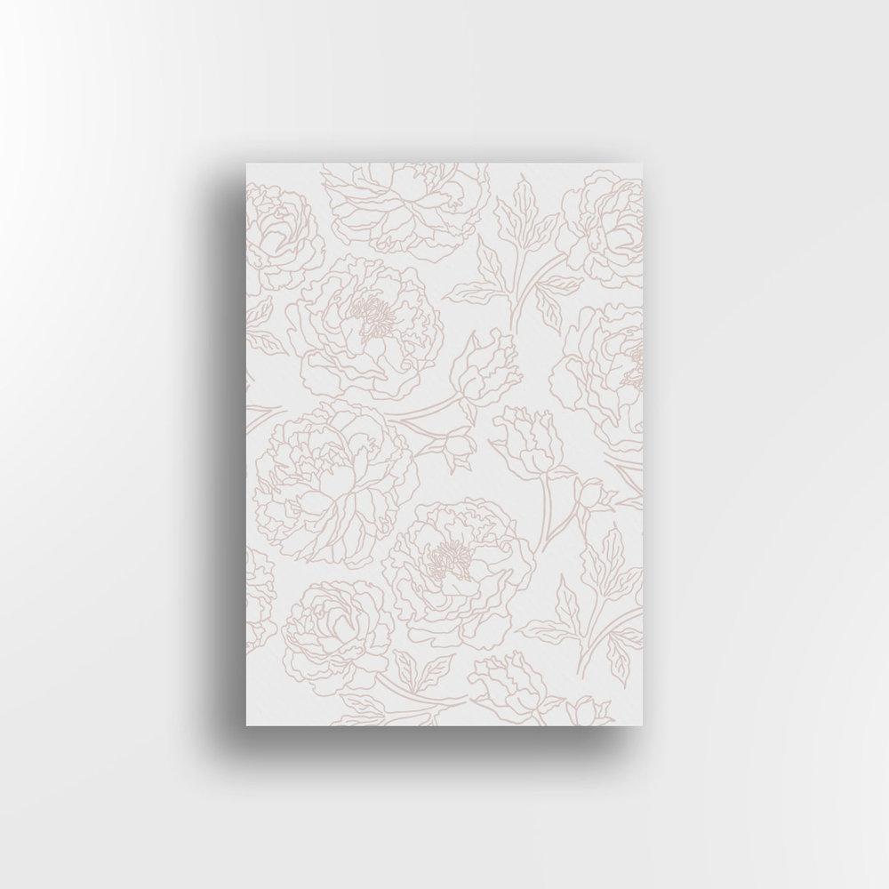 Peonies / Blush on White