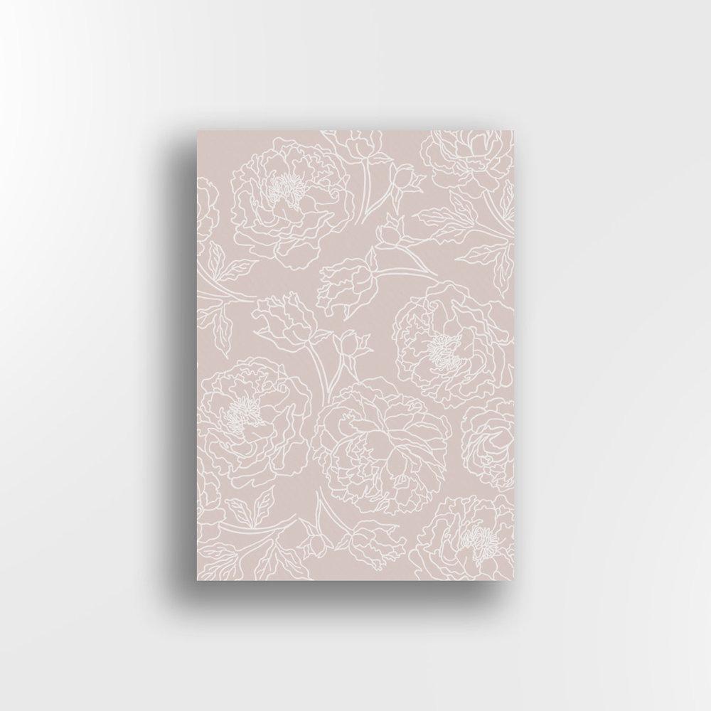 Peonies / White on Blush