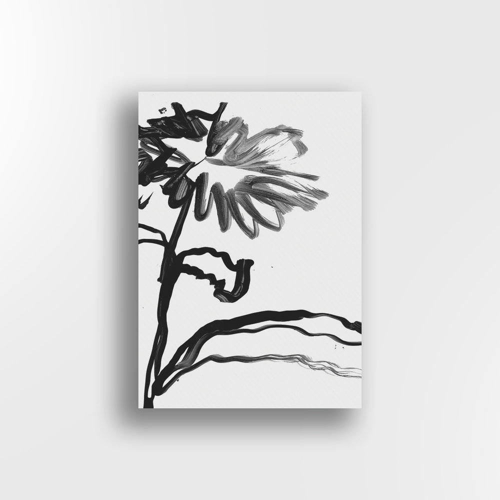 Brush-work Flower