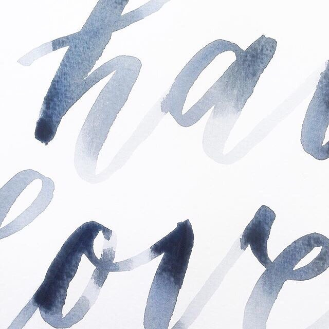 Watercolour Lettering #cassdellerweddings