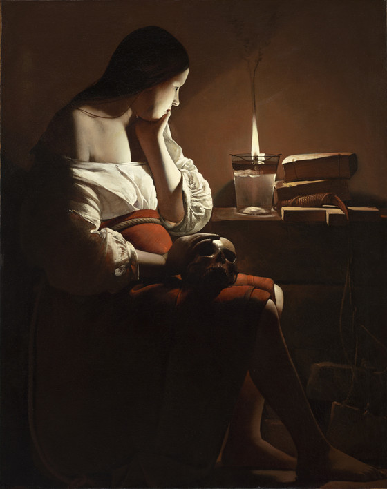 Georges de la Tour, The Magdelen with a Smoking Flame