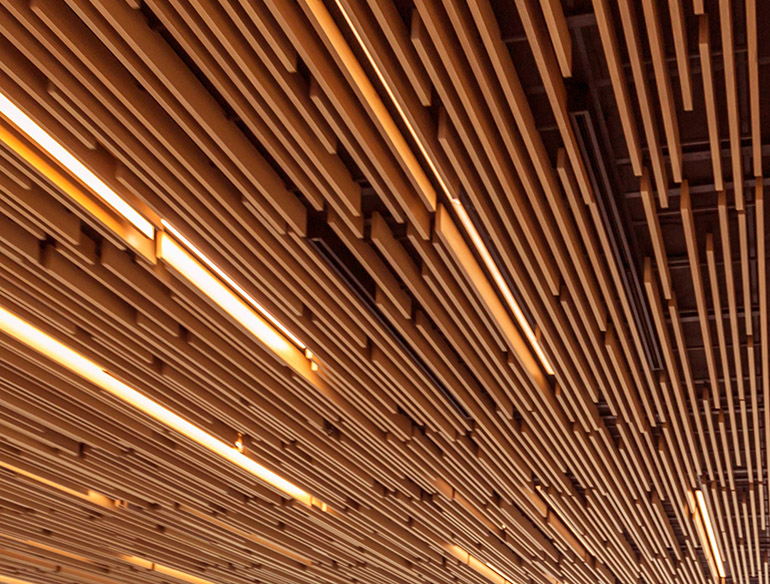 ARCHITECTURAL WOOD CEILINGS + WALLS -