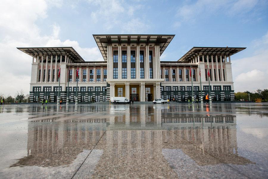 The Cumhurbaşkanlığı Külliyesi, President Erdoğan's illegal residence.