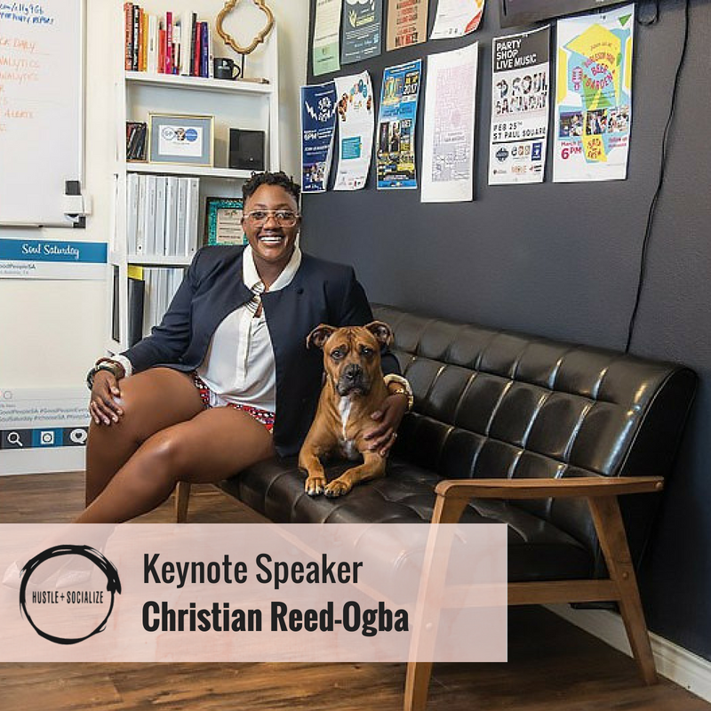 Keynote SpeakerChristian Reed-Ogba - Chief Executive Officer , BethanyEast PR, LLCPresenting: From Boot to Bra Straps - How To Lift Yourself UpA 45-minute conversation with a proven stand out badass in the entrepreneurship community of San Antonio. Christian's