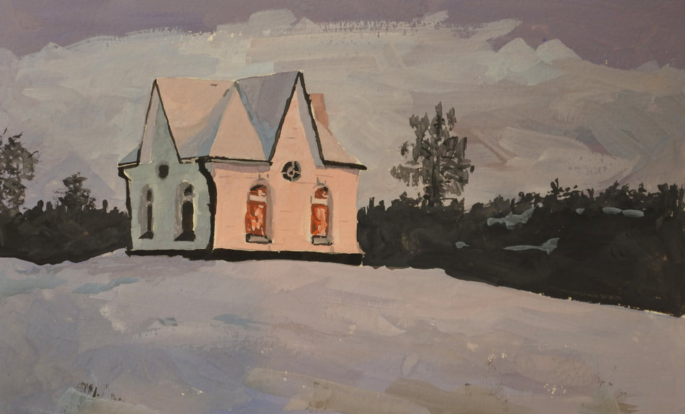 Winter Chapel.   Sold