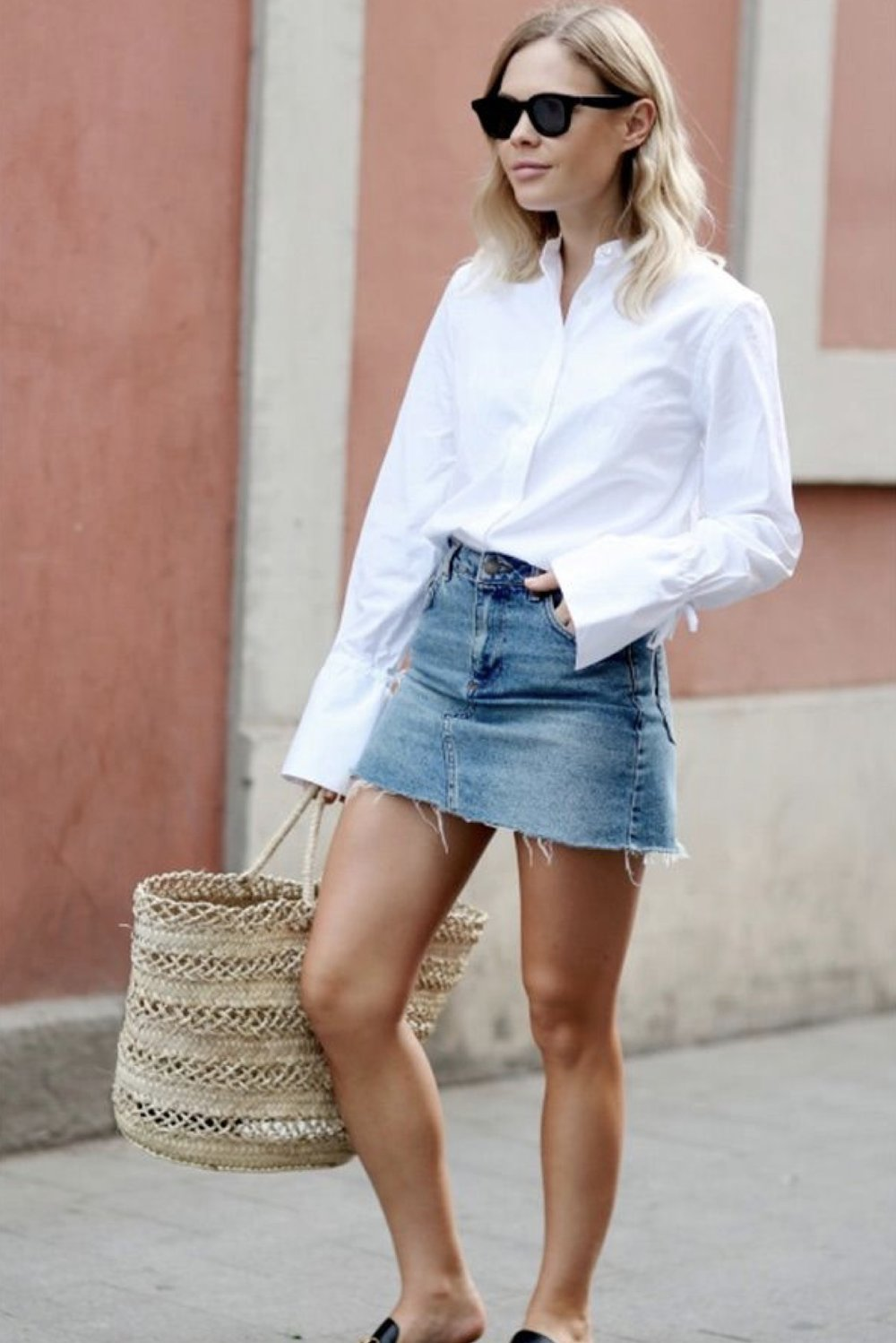d1d823d9d How to Look Amazing in a Denim Mini Skirt — HighLowLuxxe