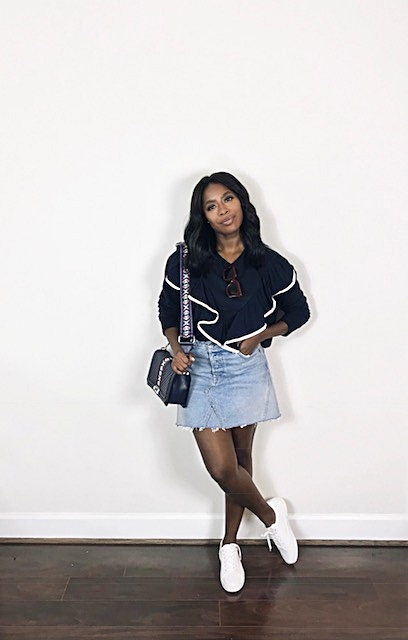 How To Look Amazing In A Denim Mini Skirt High Low Luxxe