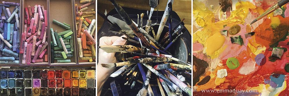 Emma Quay's art materials