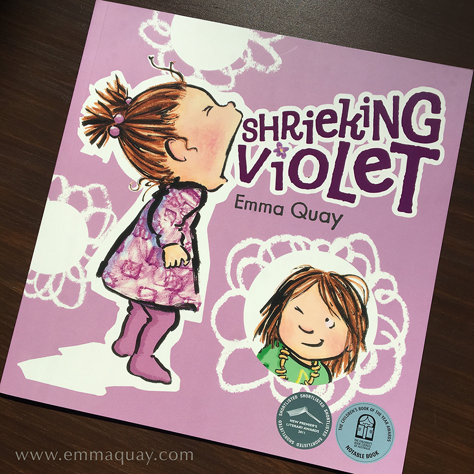SHRIEKING VIOLET by Emma Quay, a children's picture book (ABC Books) • http://www.emmaquay.com