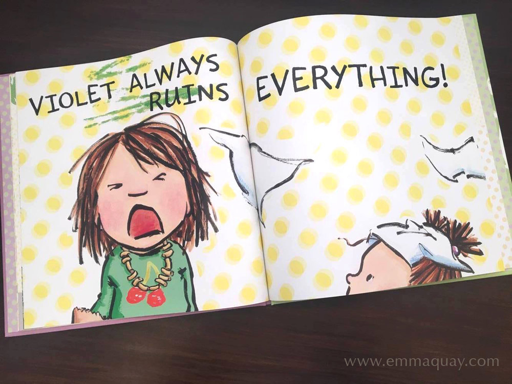 "Illustration by Emma Quay from SHRIEKING VIOLET (ABC Books) • http://www.emmaquay.com ""Violet always ruins everything!"""