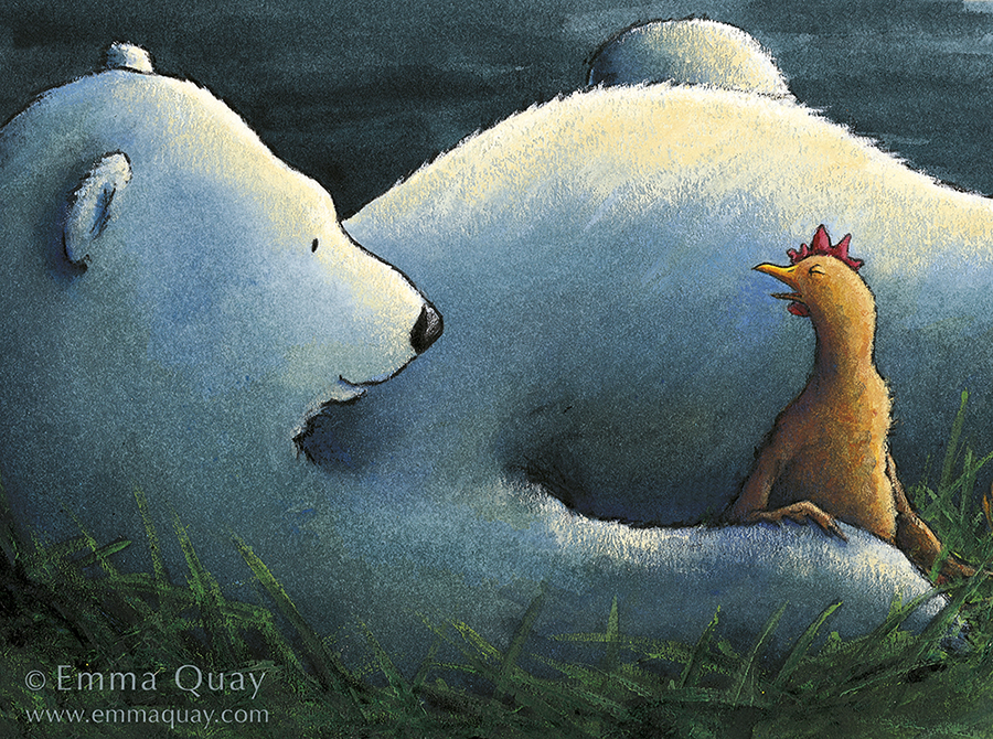 Illustration from BEAR AND CHOOK by Lisa Shanahan and Emma Quay (Lothian Books) • http://www.emmaquay.com