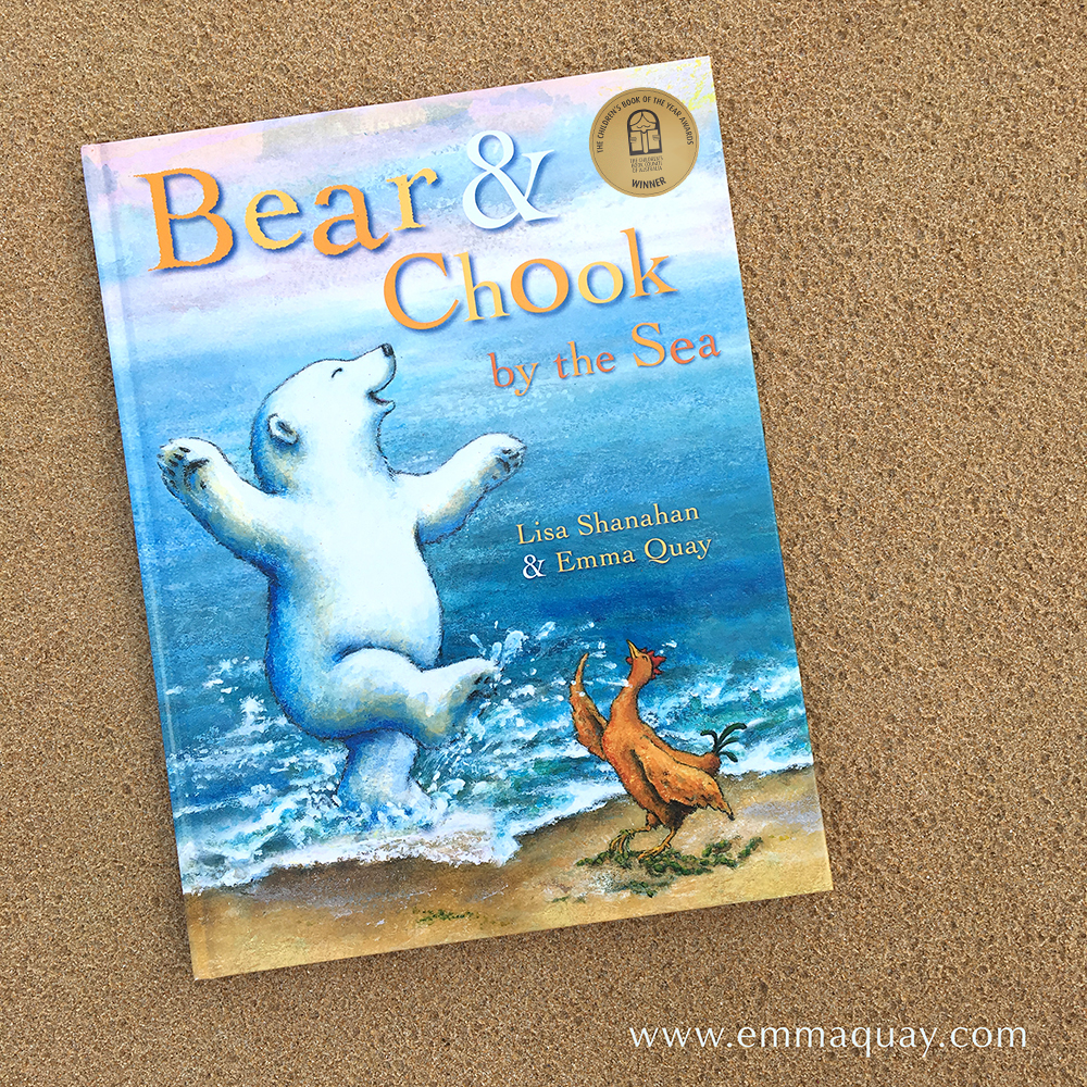 BEAR AND CHOOK BY THE SEA by Lisa Shanahan & Emma Quay (Lothian Books) •http://www.emmaquay.com
