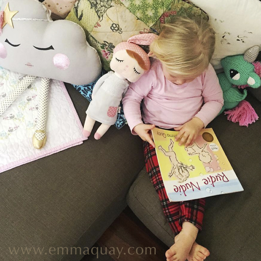 Reading RUDIE NUDIE, a picture book by Emma Quay (ABC Books) — www.emmaquay.com
