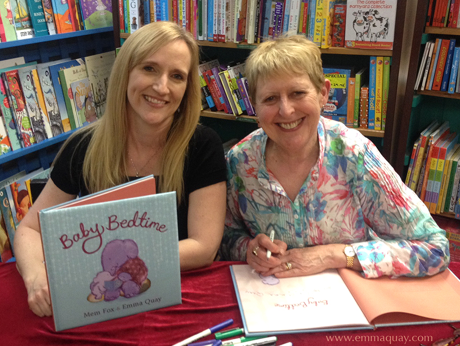 Emma Quay and Mem Fox, illustrator and author of BABY BEDTIME (Viking/Penguin Books Australia) • http://www.emmaquay.com