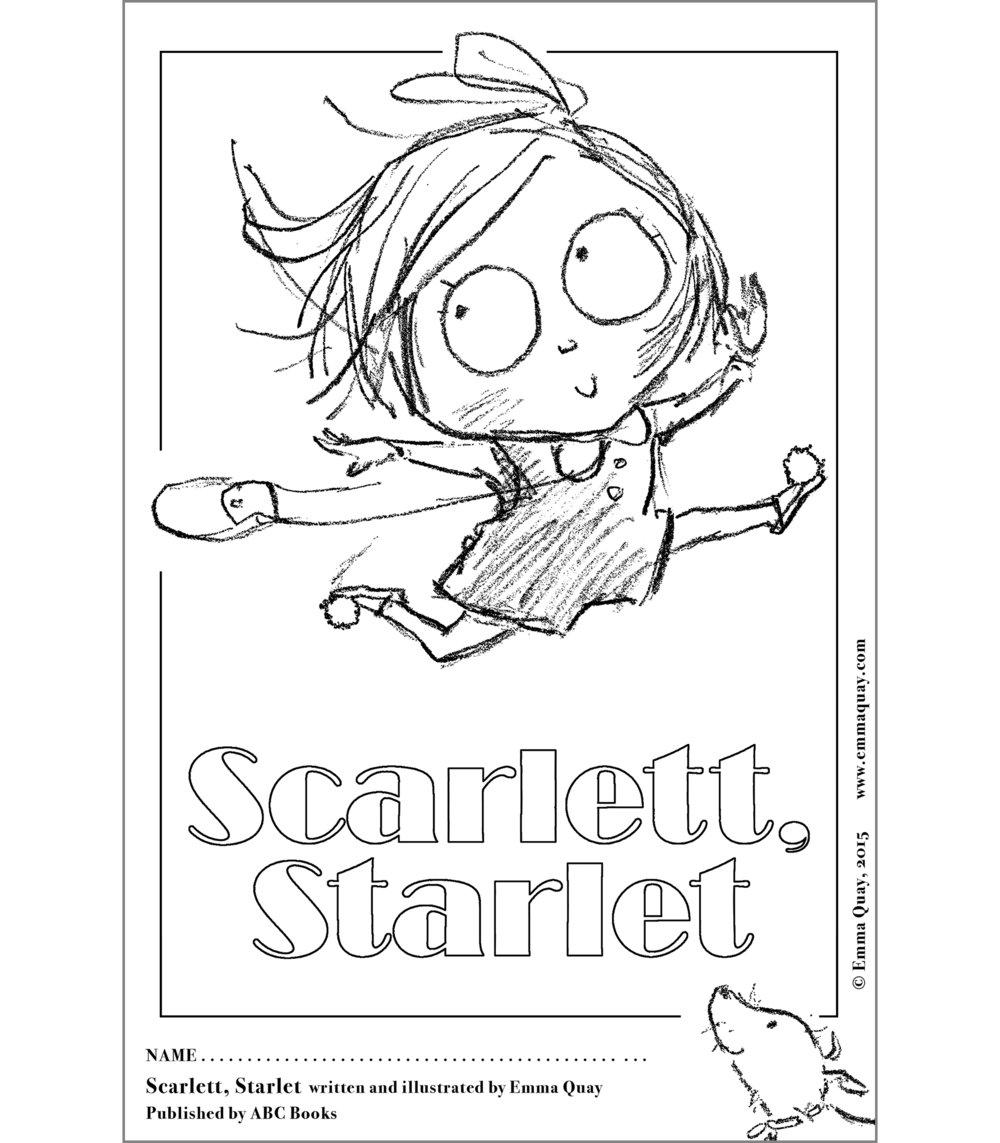 SCARLETT, STARLET colouring activity • http://www.emmaquay.com
