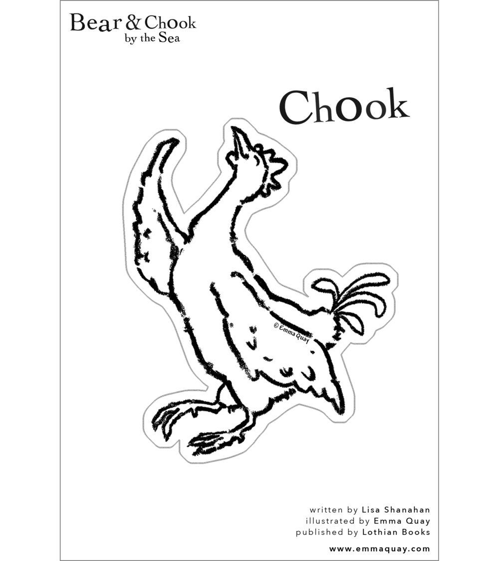 BEAR AND CHOOK BY THE SEA Chook puppet • http://www.emmaquay.com
