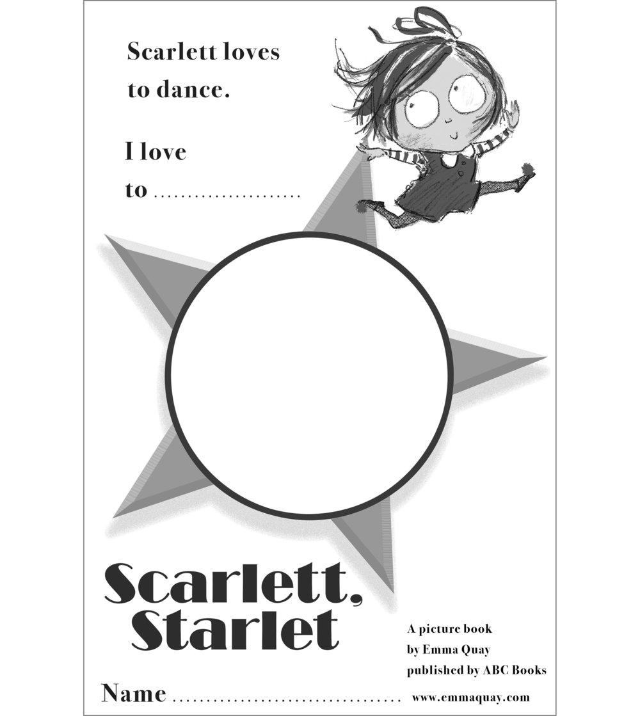 SCARLETT, STARLET drawing activity • http://www.emmaquay.com