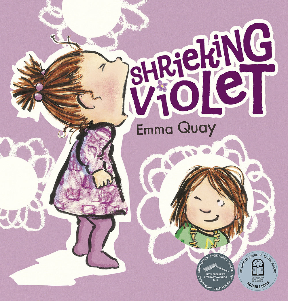 SHRIEKING VIOLET by Emma Quay (ABC Books) • http://www.emmaquay.com