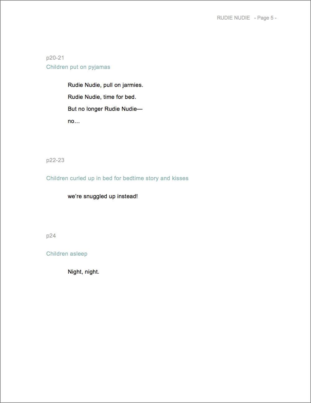 RUDIE NUDIE manuscript by Emma Quay - www.emmaquay.com