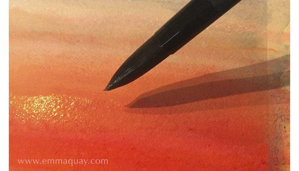 Illustrating MY SUNBEAM BABY - watercolour wash - www.emmaquay.com