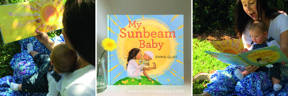 Reading MY SUNBEAM BABY by Emma Quay (ABC Books) — with many thanks to Vanessa and Ava Maroon